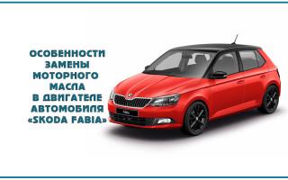Особенности замены моторного масла в двигателе автомобиля «Skoda Fabia»