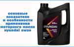 Основные показатели и особенности применения моторного масла Hyundai 5w30