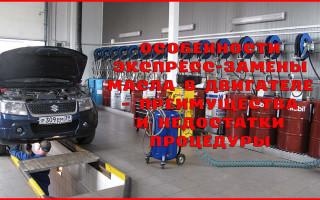 Особенности экспресс-замены масла в двигателе – преимущества и недостатки процедуры