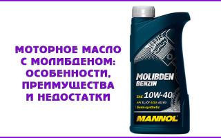 Моторное масло с молибденом: особенности, преимущества и недостатки