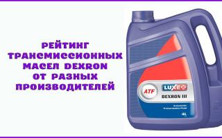 Рейтинг трансмиссионных масел Dexron от разных производителей