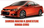 Инструкция по замене масла в двигателе автомобиля «Honda Civic»