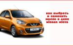 Как выбрать и заменить трансмиссионное масло в АКПП Nissan Micra