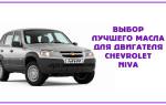 Выбор лучшего масла для двигателя Chevrolet Niva