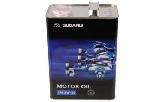 Технические характеристики и особенности применения моторного масла Subaru 5w-30