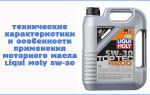 Технические характеристики и особенности применения моторного масла Liqui Moly 5W-30