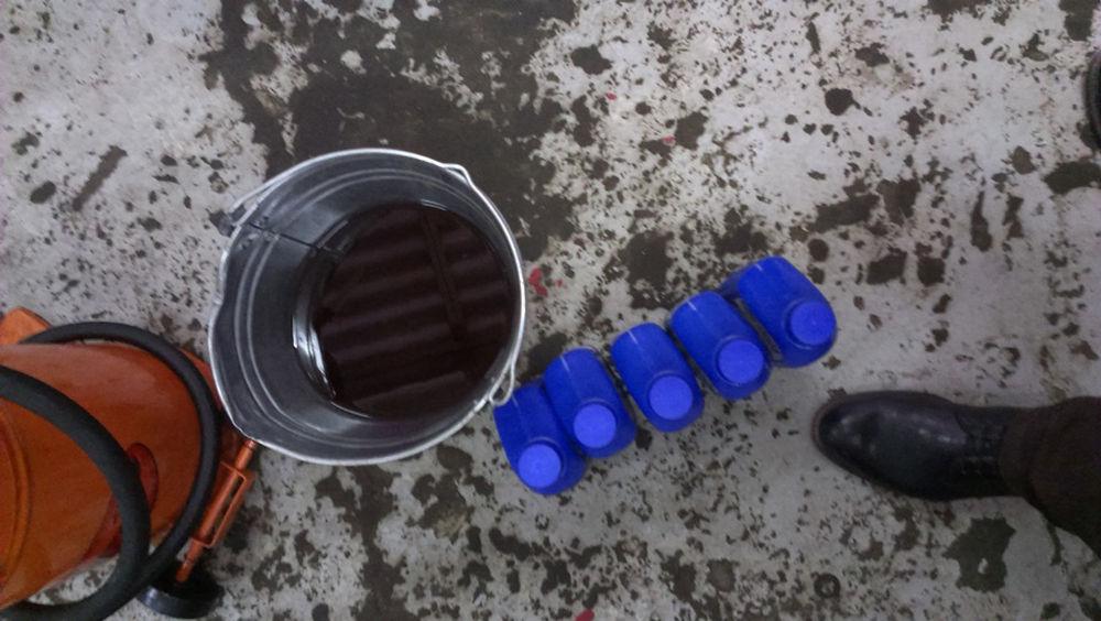 Слить отработанное масло