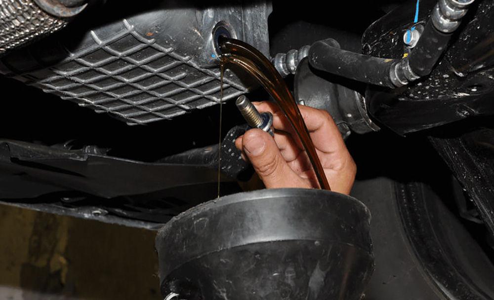 Слить масло