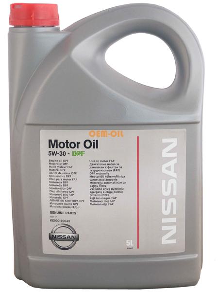 Nissan Motor Oil 5W30 DPF