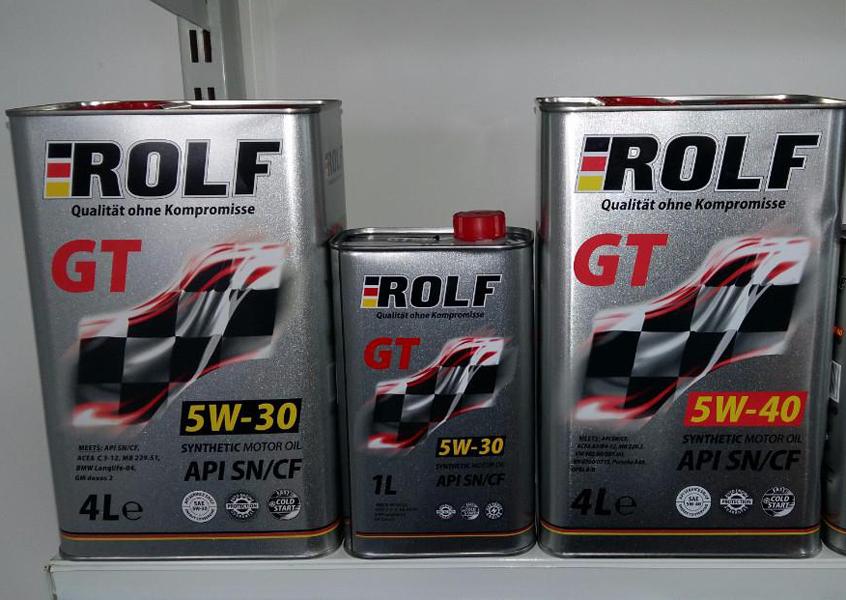 Синтетическое моторное масло Rolf 5W-30