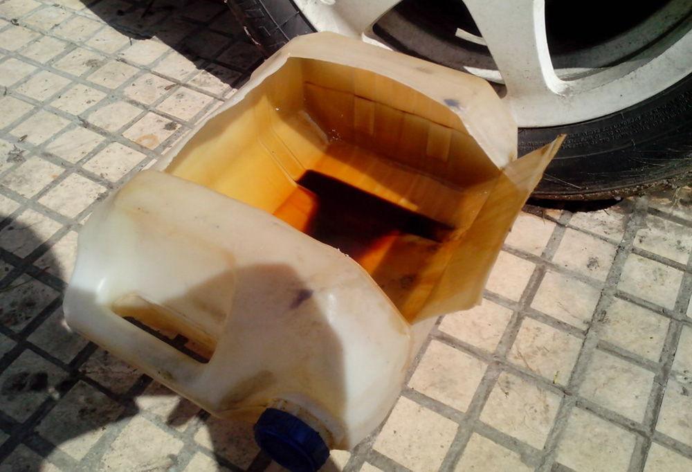 Слитое масло