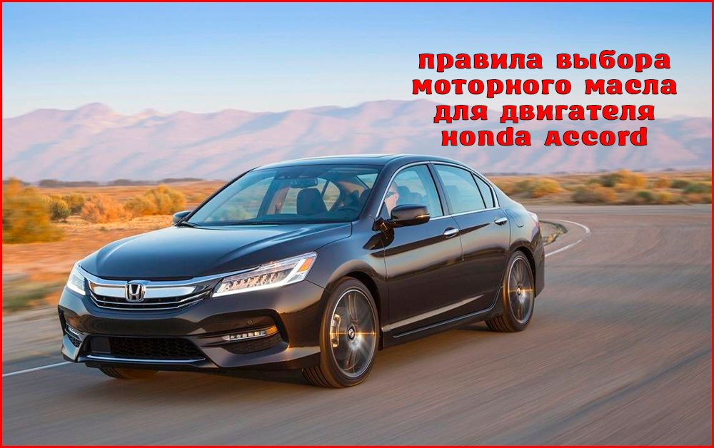 Как правильно выбрать моторное масло для Honda Accord