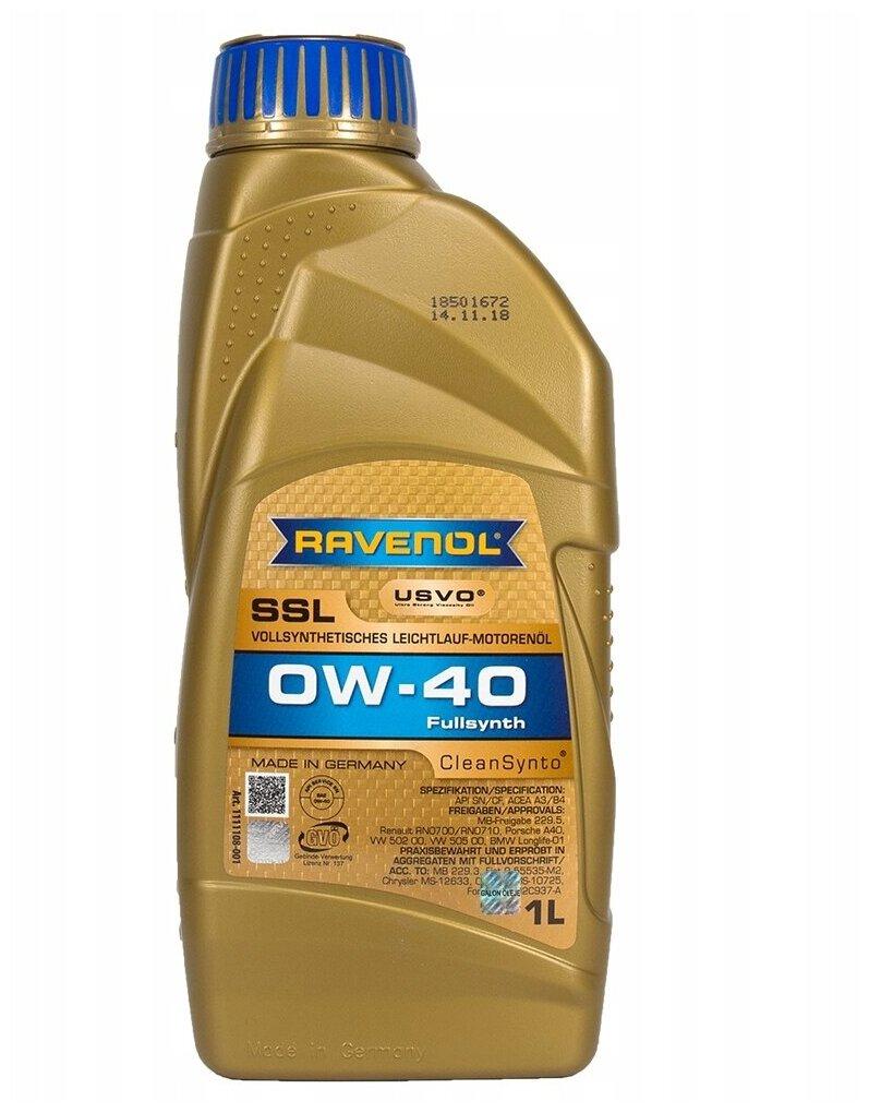 Ravenol Super Synthetik Öl SSL SAE 0W-40